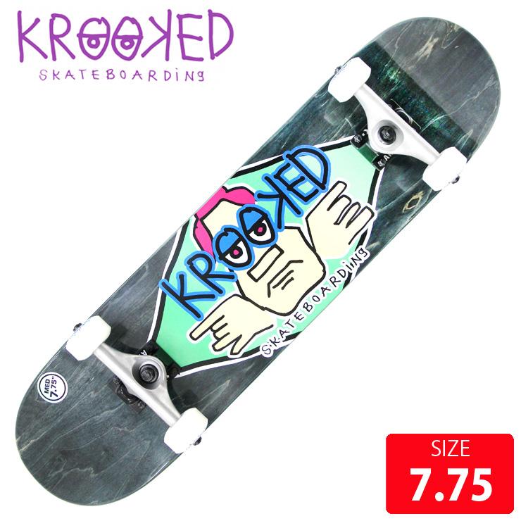 KROOKED クールーキッド コンプリート DIAMOND EYES MD DECK 7.75 インチ KKC-0209 完成品 組立て済 スケートボード スケボー