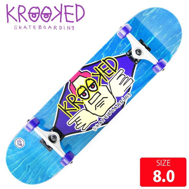 KROOKED クールーキッド コンプリート DIAMOND EYES LG DECK 8.0 インチ KKC-0210 完成品 組立て済 スケートボード スケボー