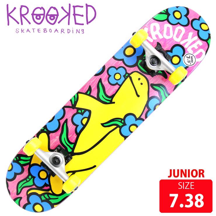 KROOKED クールーキッド コンプリート SHMOO VIBES MINI DECK 7.38 インチ KKC-020 ジュニア 完成品 組立て済 スケートボード スケボー