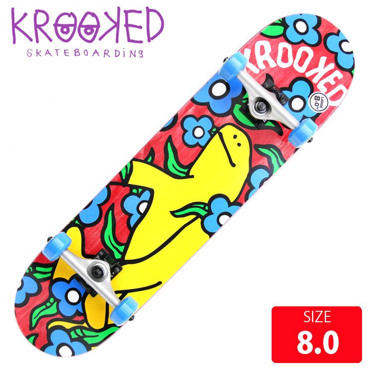 KROOKED クールーキッド コンプリート SHMOO VIBES LG DECK 8.0 インチ KKC-023 完成品 組立て済 スケートボード スケボー