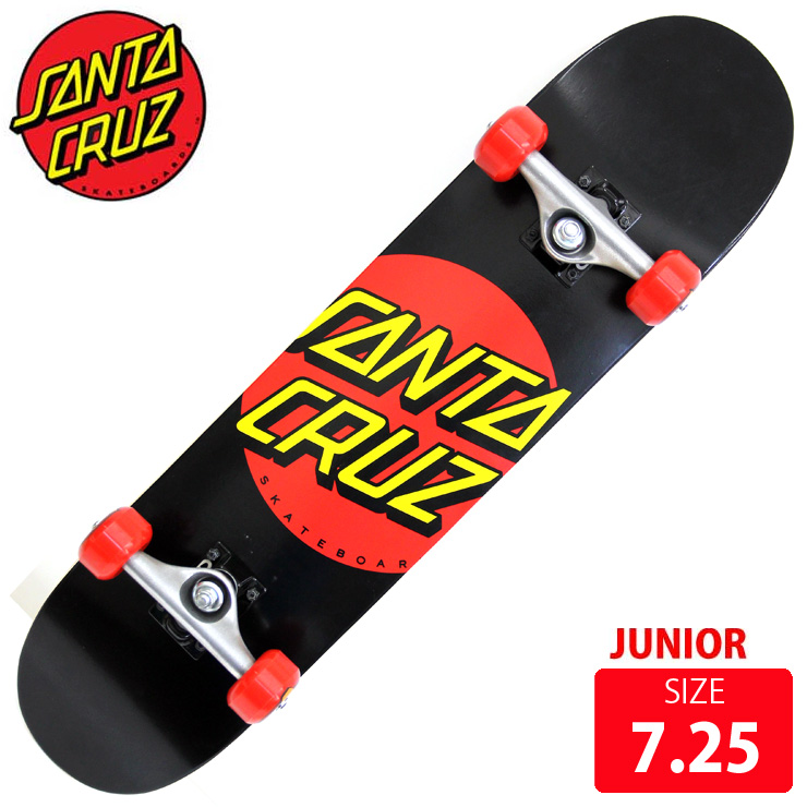 FLIP コンプリート ジュニア CLASSIC DOT BLK/RED DECK 7.25 完成品 skateboard スケボー スケートボード