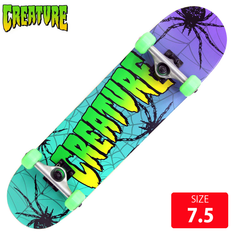 CREATURE クリエーチャー ジュニア コンプリート WEB BULLET/OJ53mm 7.5 完成品 スケートボード 子供用