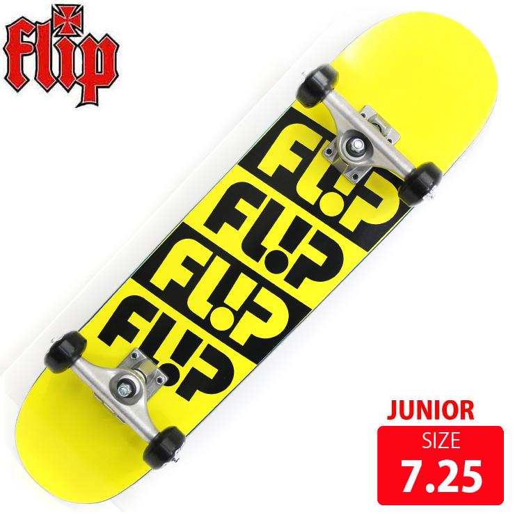 FLIP コンプリート ジュニア ODDESSEY QUATTRO YELLOW 7.25 完成品 skateboard スケボー スケートボード