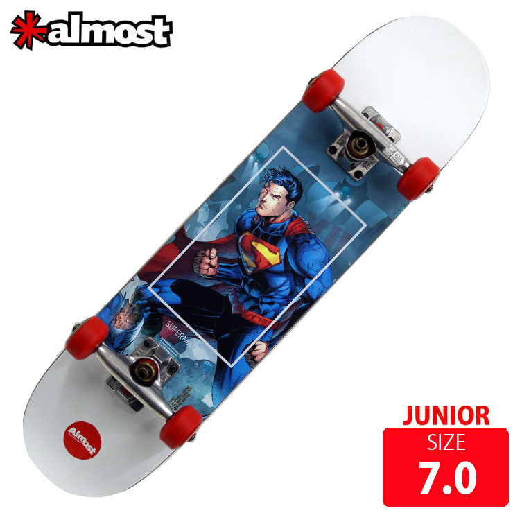 ALMOST オールモスト コンプリート SUPERMAN FIGHT CLUB ジュニア用 コンプリート DECK 7.0 AMC-011 SUPERMAN 完成品 ジュニア用 スケボー スケートボード キッズ, 千厩町:e12da241 --- sunward.msk.ru