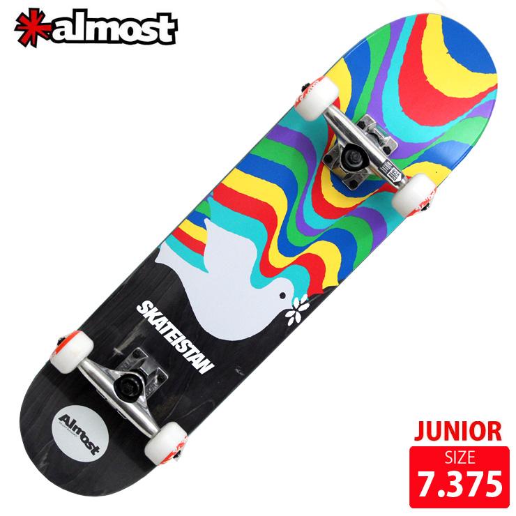 ALMOST オールモスト コンプリート SKATEISTAN 7.375 完成品 キッズ用 スケボー スケートボード ジュニア