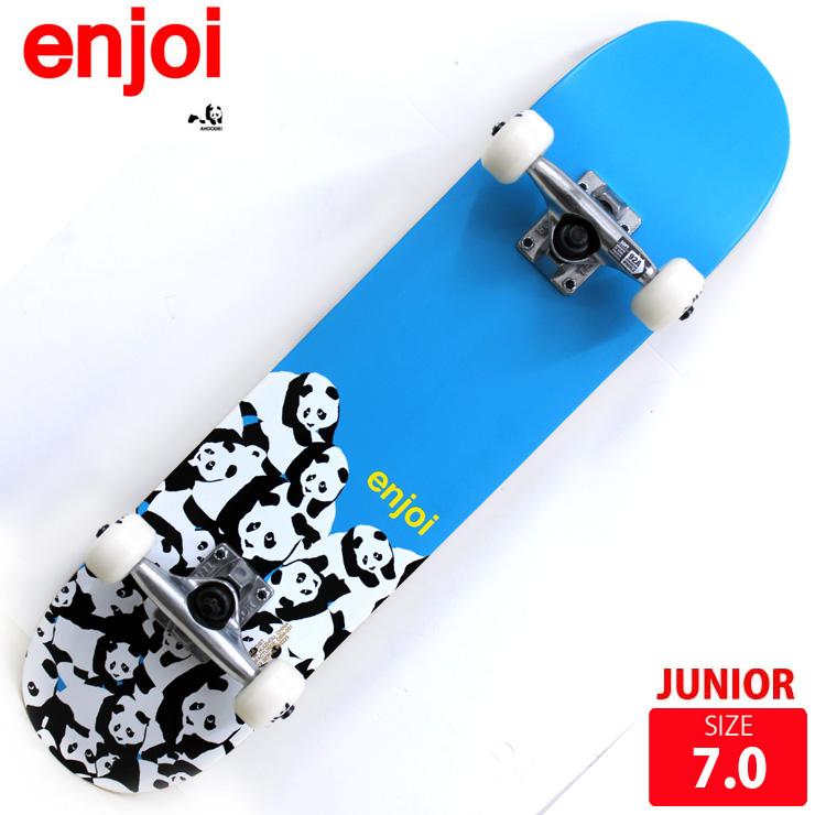 スケボー コンプリート ジュニア エンジョイ PANDA PILE BLUE DECK 7.0 完成品 スケートボード