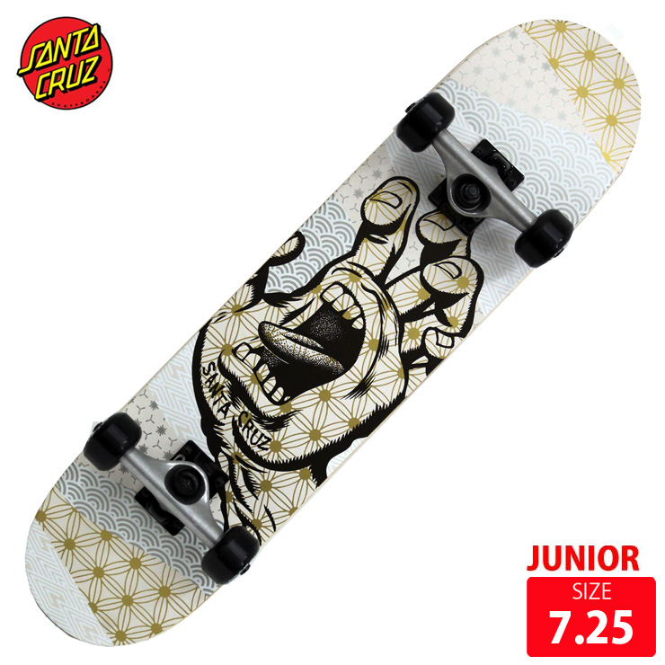 SANTA CRUZ サンタクルズ ジュニア スケボー コンプリート MONYO HAND DECK 7.25 SKATEBOARD スケートボード