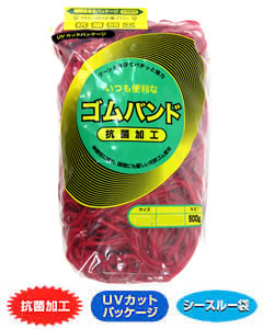 輪ゴム #320(#30-6) 赤色 500g×40袋(1カートン20kg)