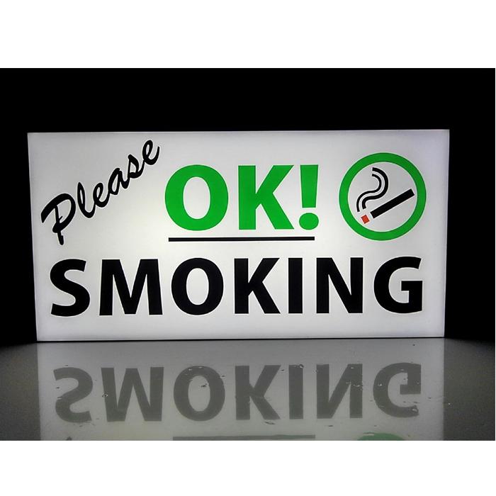 【楽ギフ_包装】 【LEDデザインライト】OK! SMOKING PLEASE 喫煙 喫煙室 喫煙所 タバコOK タバコ 飲食店 店舗 電子タバコ 看板 インテリア 雑貨 置物◆Lサイズ-1◆, 古宇郡 e4bb2969