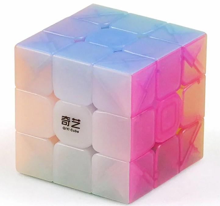 送料無料 迅速にお届け致します 正規販売店 人気ブランド 安心の保証付き QiYi Warrior 日本全国 送料無料 W Jelly Edition ルービックキューブ パステル おすすめ ステッカーレス Cube 3x3x3