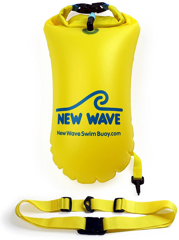 送料無料 着後レビューで 迅速にお届け致します 正規販売店 代引き不可 New Wave Swim Buoy スイムブイ 浮き輪 Mサイズ 15L イエローPVC スイマー