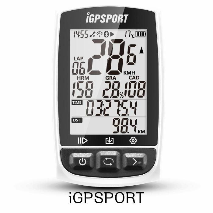 \正規販売店/ GPS自転車コンピュータANT+機能付き iGPSPORT iGS50E 大画面サポートのサイクルコンピュータハートレートモニタとスピードケイデンスセンサ接続 w 白 おすすめ
