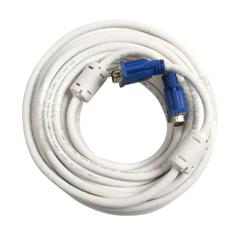 ロングコードで離れた機材とモニタの接続に最適 VGA ディスプレイ ケーブル D-Sub15ピン ミニ オス-D-Sub15ピン プロジェクター 接続 フェライトコア付き オス D-Subケーブル 人気急上昇 お買い得品 モニターケーブル 20m