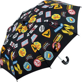 折りたたみ傘 55cm 60本アソート トップレス ワッペン ブラック、ネイビー、グリーン各20本 合計60本アソート