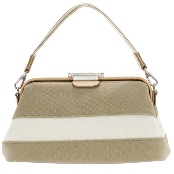 帆布ボーダーダレスポーチ 鞄 豊岡 日本製 バッグ コンパクト 高級感 ギフト プレゼント 贈り物 おしゃれ