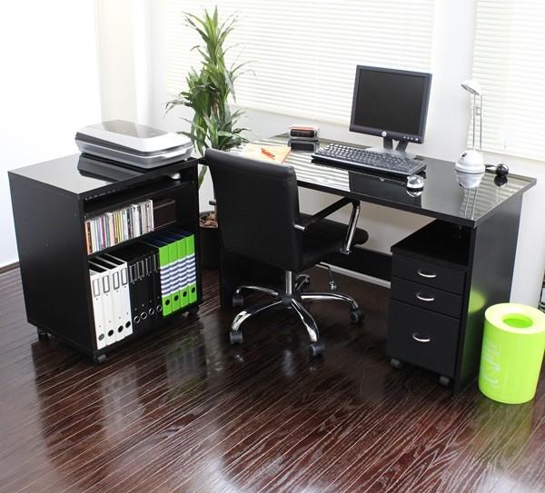 送料無料 パソコンデスク 日本製 鏡面 幅120デスク+ ラック+チェスト デスクセット 本棚 書棚 収納 PCデスク 学習デスク 学習机 書斎 ワークデスク オフィスデスク 勉強机 机 つくえ ブルックリン 西海岸 男前 作業机 おしゃれ 北欧