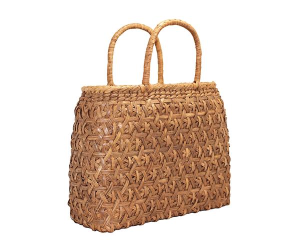 山葡萄 かごバック 菊花編み 内布付 2020 固定持手 バッグ レディース おしゃれ やまぶどう籠 高級感 大容量 新作多数