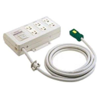 ハーネス用OA電源タップ 接地2P 6コ口 ケーブル長3m 15A 125V NE36136WGL