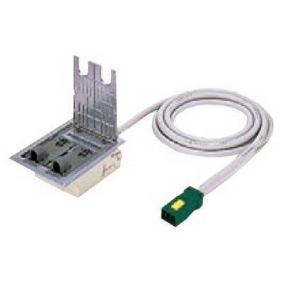 ハーネス用インナーコンセント ミニダブル 電力用 アルミ製 ケーブル長3m 15A 125V NE37660WGL