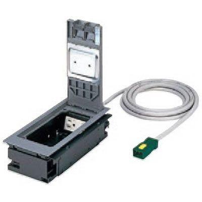 ハーネス用インナーコンセント 角2型 電力用 樹脂製 ケーブル長3m 15A 125V NE32800WGL