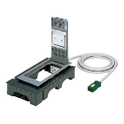 ハーネス用インナーコンセント 角2型 電力用 4コ口 樹脂製 ケーブル長3m 15A 125V NE32650WGL