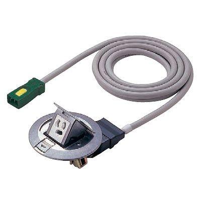 ハーネス用アップコン 丸型 電力用 1コ口 アルミ製 ケーブル長3m 15A 125V NE71145WGL