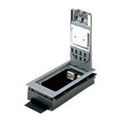 インナーコンセント 低床用角2型 電力用 接地2Pコンセント 4コ口 樹脂製 15A 125V NE32700