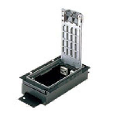インナーコンセント 低床用角2型 電力用 接地2Pコンセント 4コ口 アルミ製 15A 125V NE32500