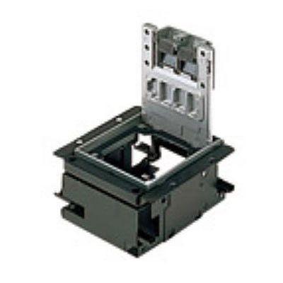インナーコンセントボックス フラット型 角1型 アルミプレートボックス NE31609