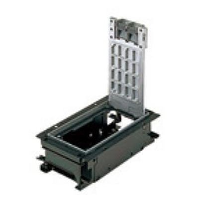 インナーコンセントボックス フラット型 角2型 アルミプレートボックス NE32609
