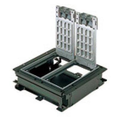 インナーコンセントボックス フラット型 角3型 アルミプレートボックス NE33609