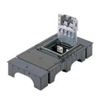 インナーコンセント フラット型 角1型 接地2Pダブルコンセント アルミ製 15A 125V NE31630L