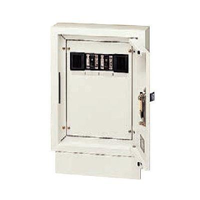 壁面直付/埋込兼用型 電力用接続ボックス 端子台・漏電ブレーカ付 電力線 3芯2条用 2回路 NE02322