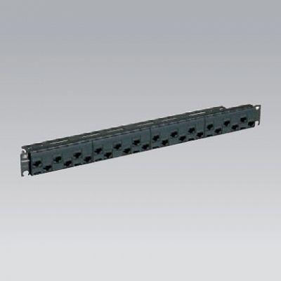 モジュラ型パッチパネル モジュールタイプ 24ポート CAT6 ブラック NR21228B