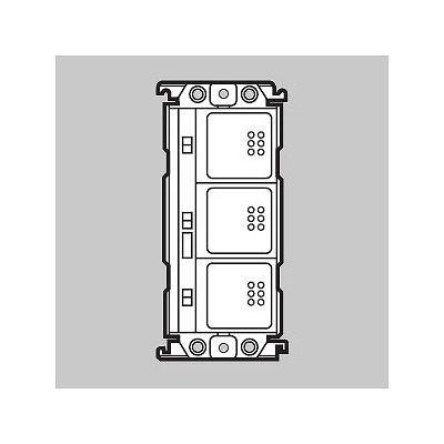スイッチ 3コ用 光アドレス設定式 スクエア シルバーグレー WRV5603S1