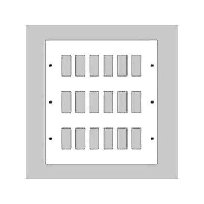 新金属リモコンスイッチプレート 3段 6連型 72コ用 スイッチ取付金具付 WR35721
