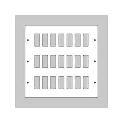 新金属リモコンスイッチプレート 3段 7連型 84コ用 スイッチ取付金具付 WR3530841