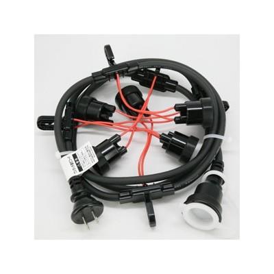 ワンタッチ提灯コード 屋外用 10灯 全長5m E26ソケット 防水プラグ・防水コネクタ付 CCB050L10P05