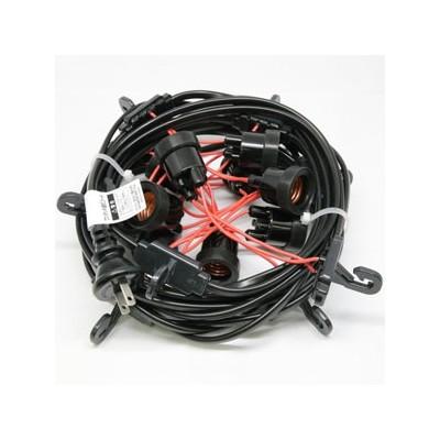ワンタッチ提灯コード ライトタイプ 屋内用 30灯 全長17.5m E26ソケット 防水プラグ付 CCA175L30P05