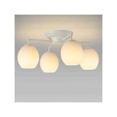 LEDシャンデリア 電球色 小形電球40形×4灯相当 天井直付タイプ SXZ-LE174701L