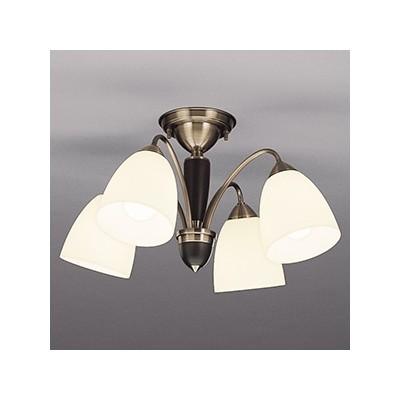 LEDランプ交換型シャンデリア ~8畳用 非調光 LED電球7.8W×4 電球色 E26口金 ランプ付 CD-4299-L