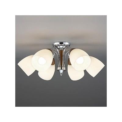 LEDランプ交換型シャンデリア ~10畳用 非調光 LED電球7.8W×6 電球色 E26口金 ランプ付 CD-4325-L