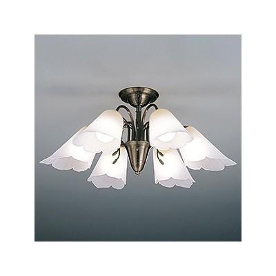 LEDランプ交換型シャンデリア ~8畳用 非調光 LED電球7.8W×6 電球色 E26口金 ランプ付 CD-4328-L