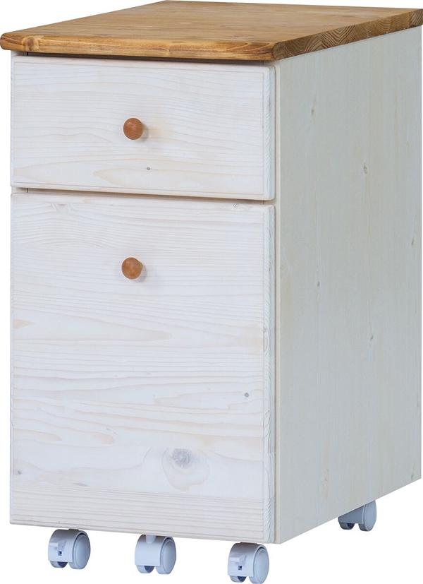 送料無料 ワゴン 幅34cm ホワイト 無垢材 サイドチェスト サイドワゴン キャスター付き 木製 収納 デスクワゴン オフィス サイドテーブル おしゃれ 北欧 モダン ミッドセンチュリー フレンチカントリー かわいい