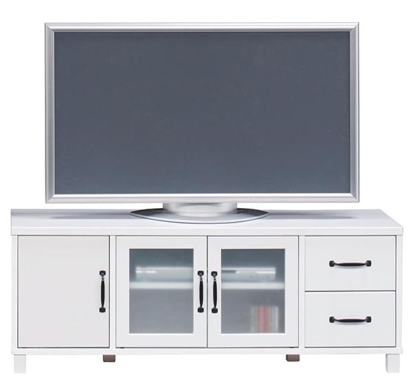 送料無料 120 ローボード ホワイト テレビ台 テレビボード リビングボード TV台 TVボード AVボード 引き出し 収納棚 木製 ロータイプ おしゃれ シンプル
