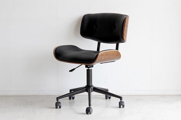 ワークチェア ブラック オフィスチェア パソコンチェア デスクチェア PCチェア OAチェア 学習椅子 おしゃれ シンプル 北欧 モダン
