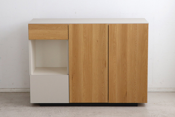 日本製 幅120cm サイドボード キャビネット キッチンリビング 収納棚 木製 電話台 FAX台 棚 ラック 本棚 リビングボード おしゃれ 北欧 モダン ナチュラル