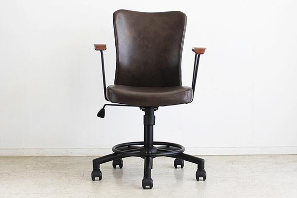 オフィスチェア 合成皮革 チェアー デスク用チェア いす 椅子 ブラウン コンパクト キャスター ワークチェアー パソコンチェア 高級感 デスクチェア 北欧 メーカー公式ショップ レトロ おしゃれ OAチェア モダン PCチェア 選択 ミッドセンチュリー 学習椅子