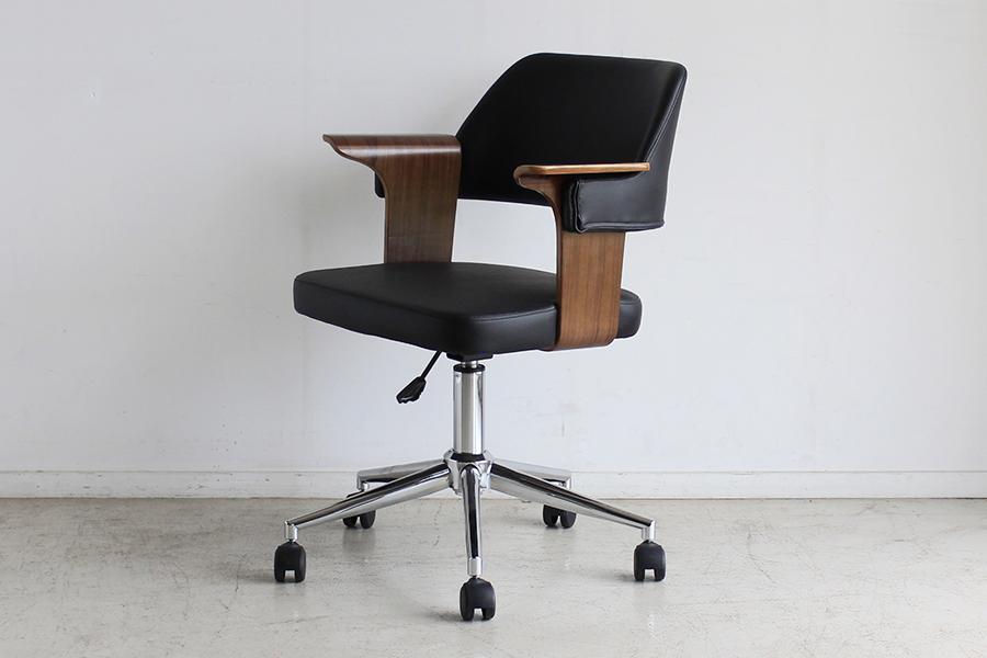 オフィスチェア ブラウン 合皮 チェアー デスク用チェア いす 椅子 キャスター ワークチェアー パソコンチェア デスクチェア PCチェア OAチェア 学習椅子 いす 椅子 おしゃれ 大人シック 北欧 モダン ミッドセンチュリー レトロ 高級感