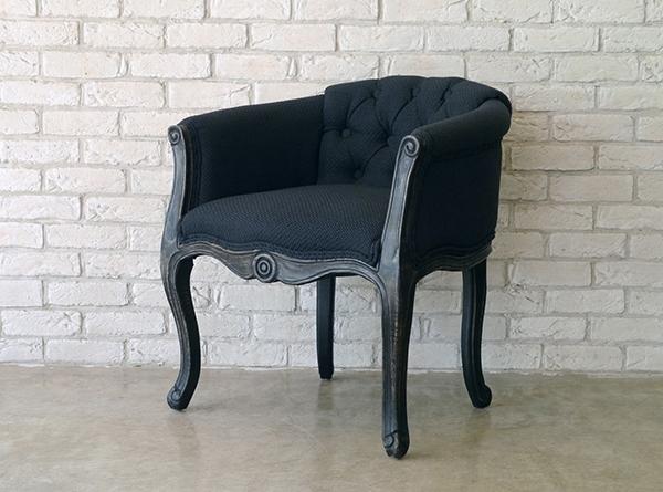 チェア アンティーク おしゃれ 1人掛け 1人用 リビング ダイニングチェア 1人掛けソファ 猫脚 セッコ ブラック クラシック レトロ ヴィンテージ パーソナルチェア いす 椅子 モダン 高級感